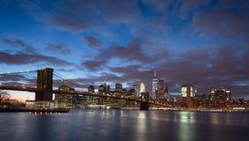 Puente de New York City y de Brooklyn Fotografía de archivo