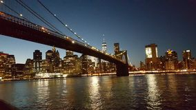 Puente de Nueva York, edificios foto de archivo libre de regalías