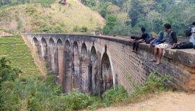 Puente de nueve arcos en el demoodara Sri Lanka Fotos de archivo