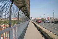Puente de Nusle en Praga Fotos de archivo libres de regalías
