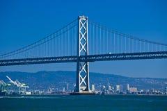 Puente de Oakland del embarcadero siete Fotografía de archivo