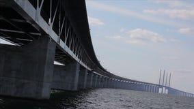 Puente de Oresund almacen de metraje de vídeo