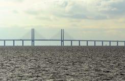 Puente de Oresund entre Suecia y Dinamarca Malmö, Suecia marzo 07,2017 Imagen de archivo libre de regalías