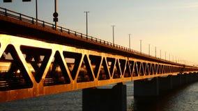 Puente de Oresund, Suecia almacen de video