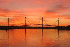 Puente de oro Fotografía de archivo libre de regalías