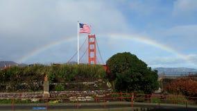 Puente de oro de la bahía Foto de archivo libre de regalías