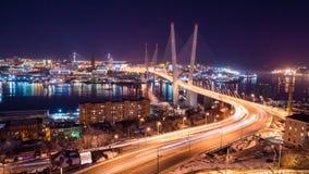 Puente de oro Rusia Vladivostok Fotografía de archivo libre de regalías
