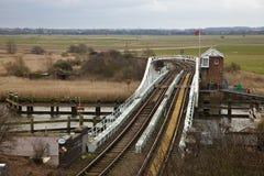 Puente de oscilación Foto de archivo libre de regalías