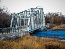 Puente de oscilación histórico Foto de archivo
