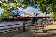 Puente de oscilación, Newcastle, Tyne y desgaste Inglaterra Reino Unido Fotografía de archivo