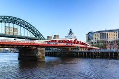Puente de oscilación de Newcastle Fotografía de archivo libre de regalías