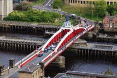 Puente de oscilación de Newcastle Fotos de archivo