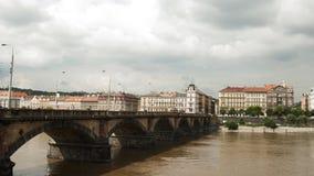 Puente de Palacky, Praga - República Checa Fotografía de archivo libre de regalías
