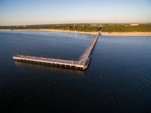 Puente de Palanga en Lituania Tiempo de la puesta del sol Fotos de archivo libres de regalías