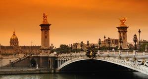 Puente de París Alejandro 3 imágenes de archivo libres de regalías