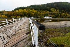 Puente de peaje de Penmaenpool, igualando Imágenes de archivo libres de regalías