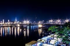 Puente de Phra Phuttha Yodfa fotografía de archivo