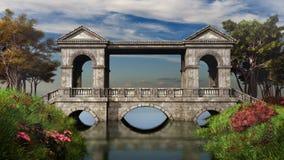 Puente de piedra antiguo libre illustration