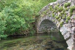 Puente de piedra antiguo Fotografía de archivo