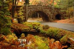 Puente de piedra arqueado Acadia Imágenes de archivo libres de regalías