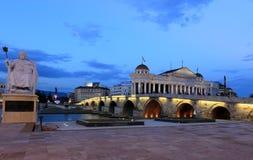Puente de piedra de Skopje Fotos de archivo