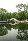 Puente de piedra del arco Fotografía de archivo