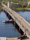 Puente de piedra en Riga Fotografía de archivo libre de regalías