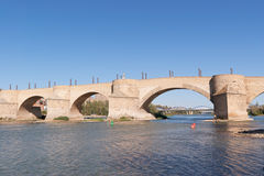 Puente de Piedra in Zaragoza Royalty Free Stock Images