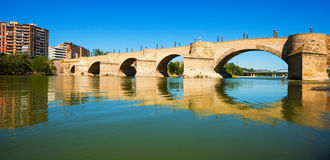 Puente de Piedra in Zaragoza Royalty Free Stock Photos