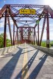 Puente de Plattsmouth Fotos de archivo libres de regalías
