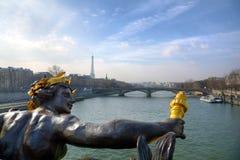 Puente de Pont Alejandro III, París Foto de archivo libre de regalías