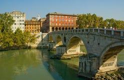 Puente de Ponte Sisto, Roma Imagen de archivo