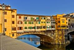Puente de Ponte Vecchio en Florencia Fotografía de archivo