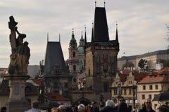 Puente de Praga Charles fotos de archivo libres de regalías