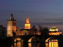 Puente de Praga Charles Fotos de archivo