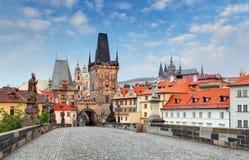 Puente de Praga - de Charles, República Checa fotos de archivo