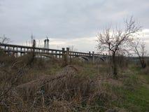 Puente de Preobrazhenskoho Imagenes de archivo