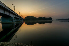 Puente de Prienai Foto de archivo