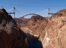Puente de puente de la presa de Hoover Imágenes de archivo libres de regalías