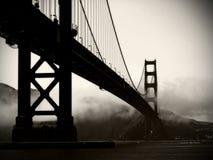 Puente de puerta de oro - blanco y negro Fotografía de archivo