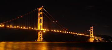 Puente de puerta de oro en la noche Fotografía de archivo