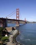 Puente de puerta de oro en la punta de San Francisco w/Fort Imagen de archivo libre de regalías