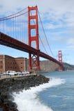 Puente de puerta de oro y punta de la fortaleza, San Francisco Imagen de archivo libre de regalías