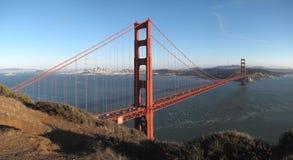 Puente de puerta de oro y San Francisco Fotografía de archivo