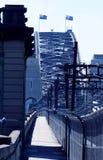 Puente de puerto de Sydney Cycleway Fotos de archivo libres de regalías