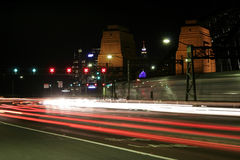 Puente de puerto de Sydney en la noche Imagen de archivo libre de regalías