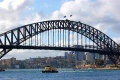 Puente de puerto de Sydney famoso en Australia Imagen de archivo libre de regalías