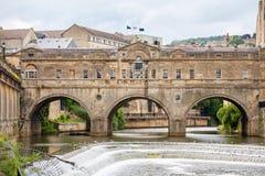 Puente de Pulteney. Baño, Inglaterra Foto de archivo libre de regalías