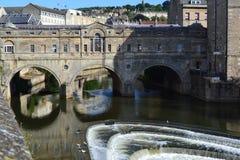 Puente de Pulteney en el baño, Reino Unido Fotos de archivo