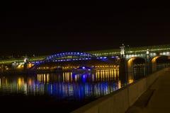 Puente de Pushkin, Moscú, Rusia Fotos de archivo libres de regalías